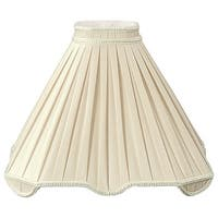 Royal Designs Beige Pleated Square Lamp Shade