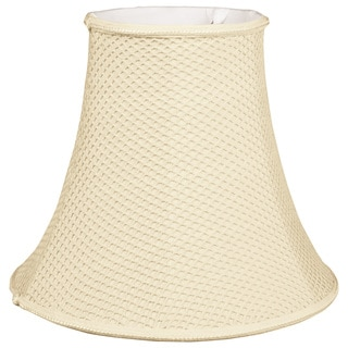 Royal Designs Lace Pattern Bell Designer Lamp Shade, Beige, Round Clip, 4 x 8 x 7.25