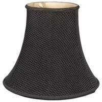 Royal Designs Lace Pattern Bell Designer Lamp Shade, Black,  5 x 10 x 8.5