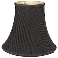Royal Designs Lace Pattern Bell Designer Lamp Shade, Black, Round Clip, 4 x 8 x 7.25