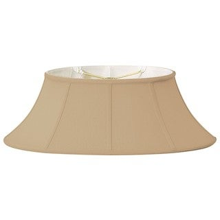 Royal Designs Shallow Oval Designer Lamp Shade, Antique Gold, (7.5x12) x (10 x 20) x 8