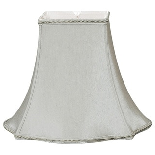 Royal Designs Fancy Square Designer Lamp Shade, Grey, 6 x 14 x 11.5