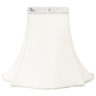 Royal Designs Fancy Square Designer Lamp Shade, White, 7 x 16 x 12.75