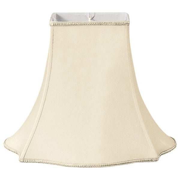 Royal Designs Fancy Square Designer Lamp Shade, Beige, 7 x 16 x 12.75