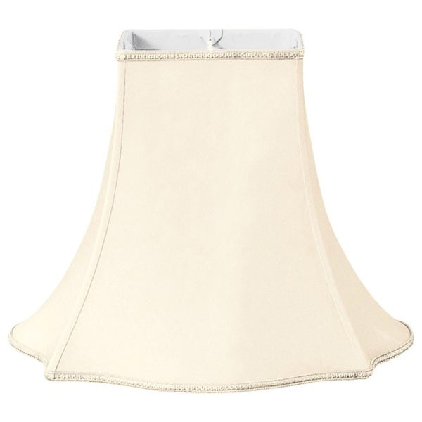 Royal Designs Fancy Square Designer Lamp Shade, Eggshell, 6 x 14 x 11.5
