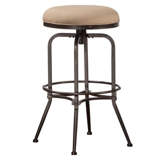 Hillsdale Furniture Polston Midnight Mocha Metal and Fabric Indoor/Outdoor Swivel Backless Counter Stool