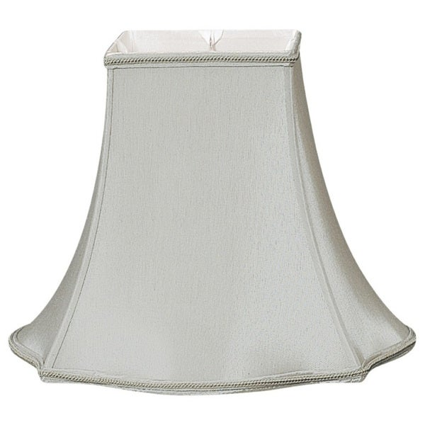 Royal Designs Fancy Square Designer Lamp Shade, Grey, 5.5 x 12 x 10