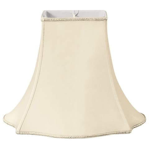 Royal Designs Fancy Beige 5.5-inch x 12-inch x 10-inch Square Lampshade