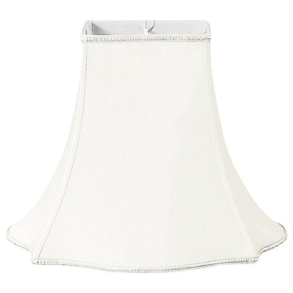Royal Designs Fancy Square Designer Lamp Shade, White, 4.5 x 10 x 8.75