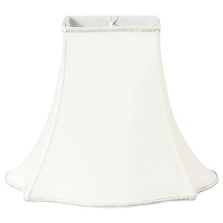 Royal Designs Fancy Square Designer Lamp Shade, White, 5.5 x 12 x 10