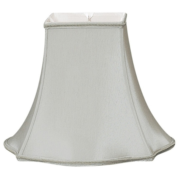 Royal Designs Fancy Square Designer Lamp Shade, Grey, 4.5 x 10 x 8.75