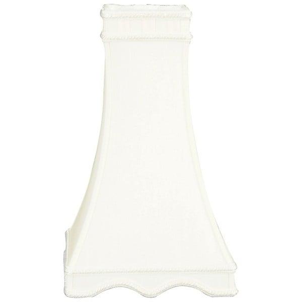Royal Designs Square Tower Designer Lamp Shade, White, 3.5 x 7 x 12