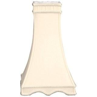Royal Designs Square Tower Designer Lamp Shade, Eggshell, 3.5 x 7 x 12