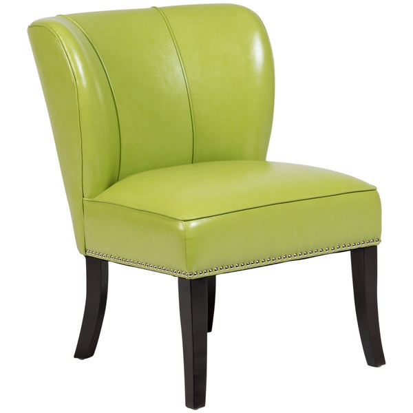33 By 28 Accent Chair: Shop Handmade Ipanema Lime Green Retro Accent Chair
