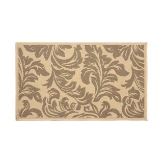 Laura Ashley Devon Taupe Indoor/Outdoor Accent Rug - (4 x 6 ft.)