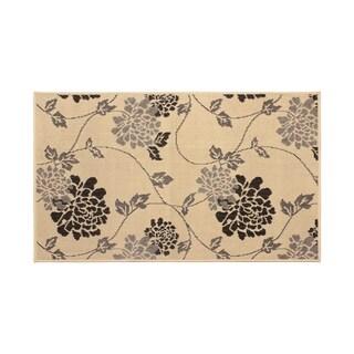 Laura Ashley Stencil Chrysanthemum Light Gray Rug -