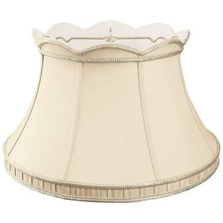Royal Designs Top Scallop with Gallery Designer Lamp Shade, Beige, 11.5 x 17 x 10.5