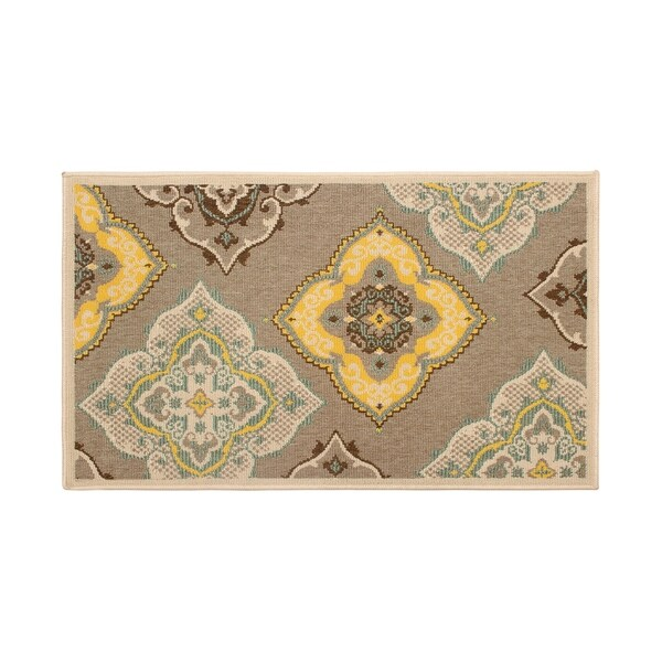 Shop Laura Ashley Allie Taupe Indoor Outdoor Accent Rug