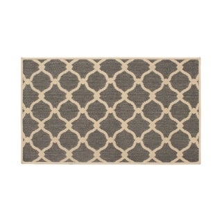 Laura Ashley Arietta Gray Indoor/Outdoor Accent Rug - (4 x 6 ft.)