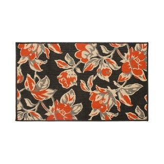 Laura Ashley Carlisle Orange Indoor/Outdoor Accent Rug - (4 x 6 ft.)