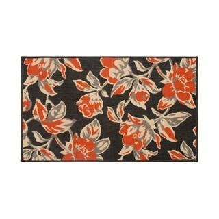 Laura Ashley Carlisle Orange Indoor/Outdoor Accent Rug - 4' x 6'