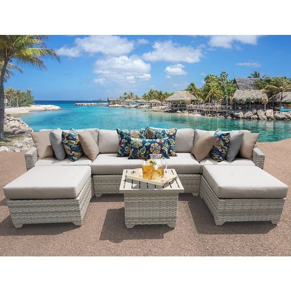 Fairmont 7 Piece Outdoor Wicker Patio Furniture Set 07a   Free Shipping  Today   Overstock.com   21744340