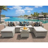 Fairmont 7 Piece Outdoor Wicker Patio Furniture Set 07a