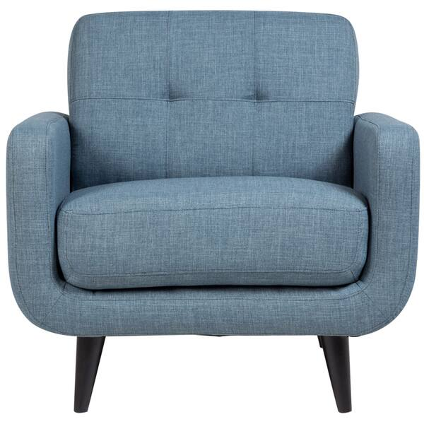 Astounding Shop Porter Casper Blue Mid Century Modern Tufted Chair 34 Cjindustries Chair Design For Home Cjindustriesco