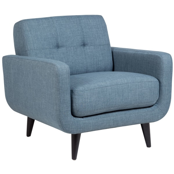Surprising Shop Porter Casper Blue Mid Century Modern Tufted Chair 34 Cjindustries Chair Design For Home Cjindustriesco