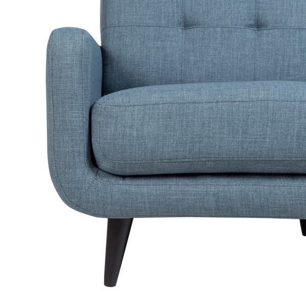Marvelous Shop Porter Casper Blue Mid Century Modern Tufted Chair 34 Cjindustries Chair Design For Home Cjindustriesco