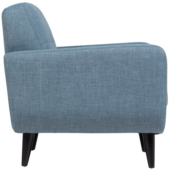 Stupendous Shop Porter Casper Blue Mid Century Modern Tufted Chair 34 Cjindustries Chair Design For Home Cjindustriesco
