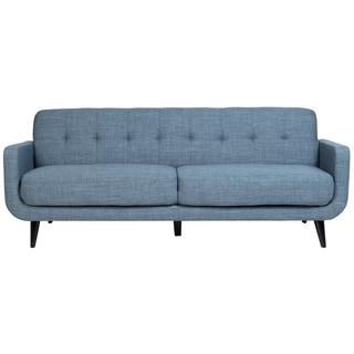 Porter Casper Blue Mid-Century Modern Tufted Sofa
