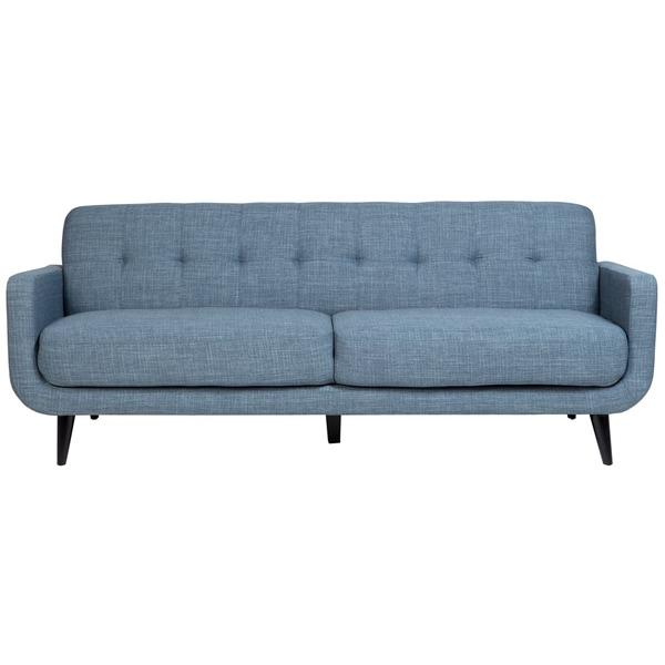 Porter Casper Blue Mid Century Modern Tufted Sofa