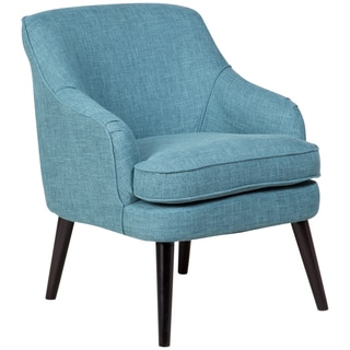 Sitswell Sybil Heather Blue Retro Modern Accent Chair