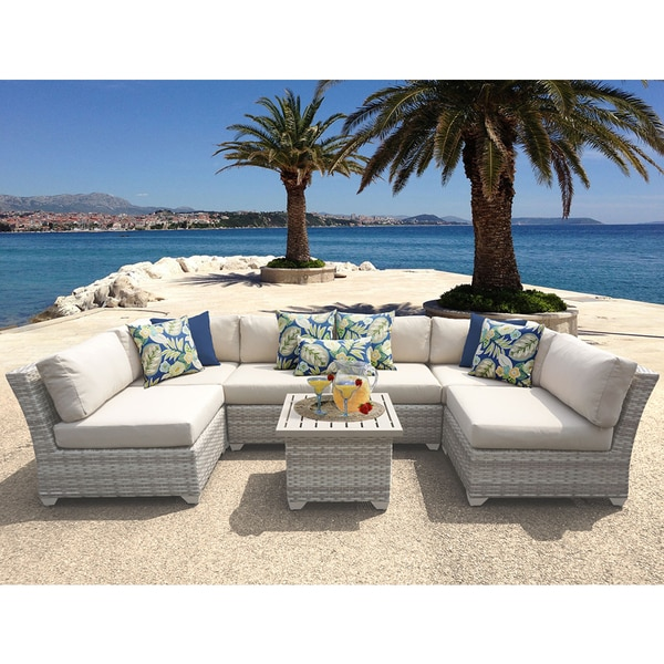 Fairmont 7 Piece Outdoor Wicker Patio Furniture Set 07c   Free Shipping  Today   Overstock.com   21744345