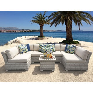 Fairmont 7 Piece Outdoor Wicker Patio Furniture Set 07c