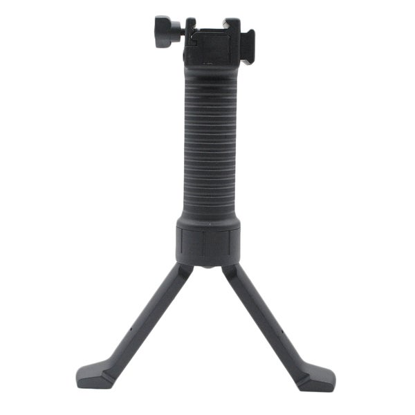 Black Tactical Bipod With Reinforced Retractable Legs