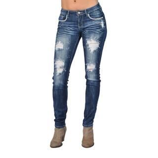 Fashion Rhinestoned Skinny Denim Jeans Ripped Stone Washed|https://ak1.ostkcdn.com/images/products/15274319/P21744372.jpg?impolicy=medium