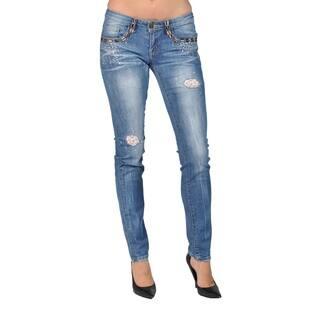 Machine Brand Skinny Fashion Stone 5 Pocket Skinny Jeans Blue|https://ak1.ostkcdn.com/images/products/15274323/P21744375.jpg?impolicy=medium