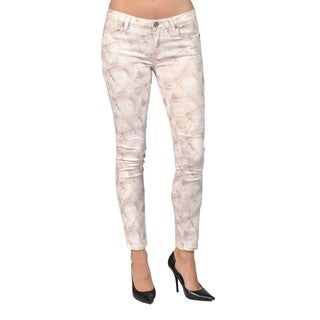 Machine Brand Skinny Fashion Printed Floral Cream Pants (More options available)