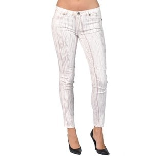 Machine Brand Skinny Fashion Printed Off White Pants