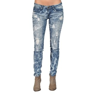 Machine Brand Skinny Fashion Ripped Jeans Blue (3 options available)