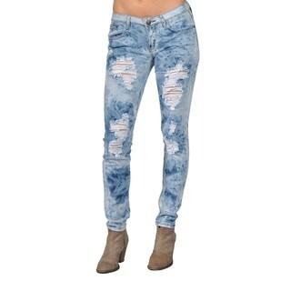 Machine Brand Skinny Fashion Ripped Jeans Blue (Option: 11)