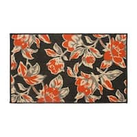 Laura Ashley Carlisle Orange Indoor/Outdoor Accent Rug - (5 x 8 ft.)