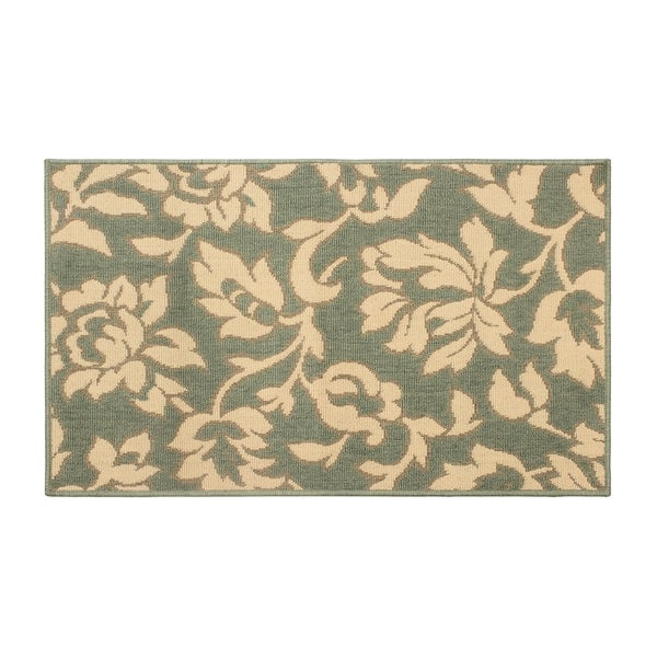 Laura Ashley Bennet Ash Green Indoor/Outdoor Rug - (5 x 8 ft.)