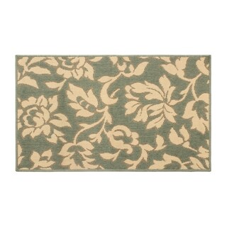 Laura Ashley Bennet Ash Green Indoor/Outdoor Rug - 5 x 8 ft.