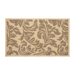 Laura Ashley Devon Taupe Indoor/Outdoor Accent Rug - 5 x 8 ft.