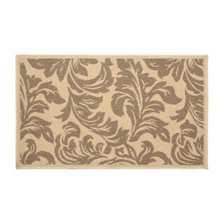 Laura Ashley Devon Taupe Indoor/Outdoor Accent Rug - (5 x 8 ft.)