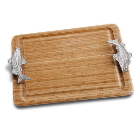 Wilton Armetale Fish Handle Carving Board