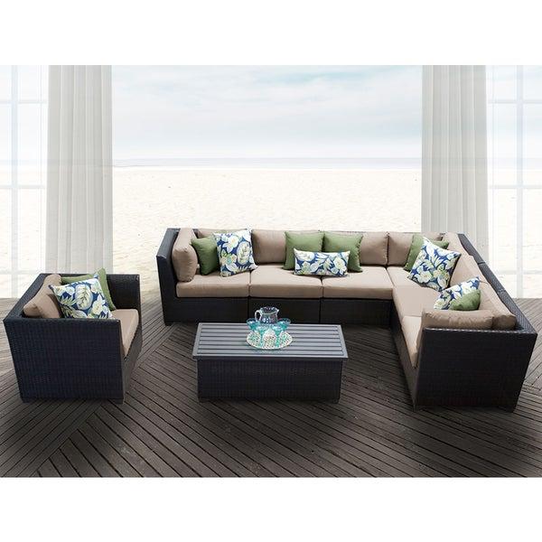 Shop Barbados 8 Piece Outdoor Wicker Patio Furniture Set